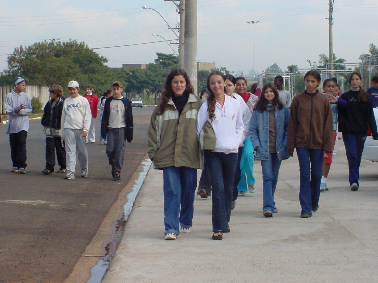 Caminhada também integrou a programação daquele ano