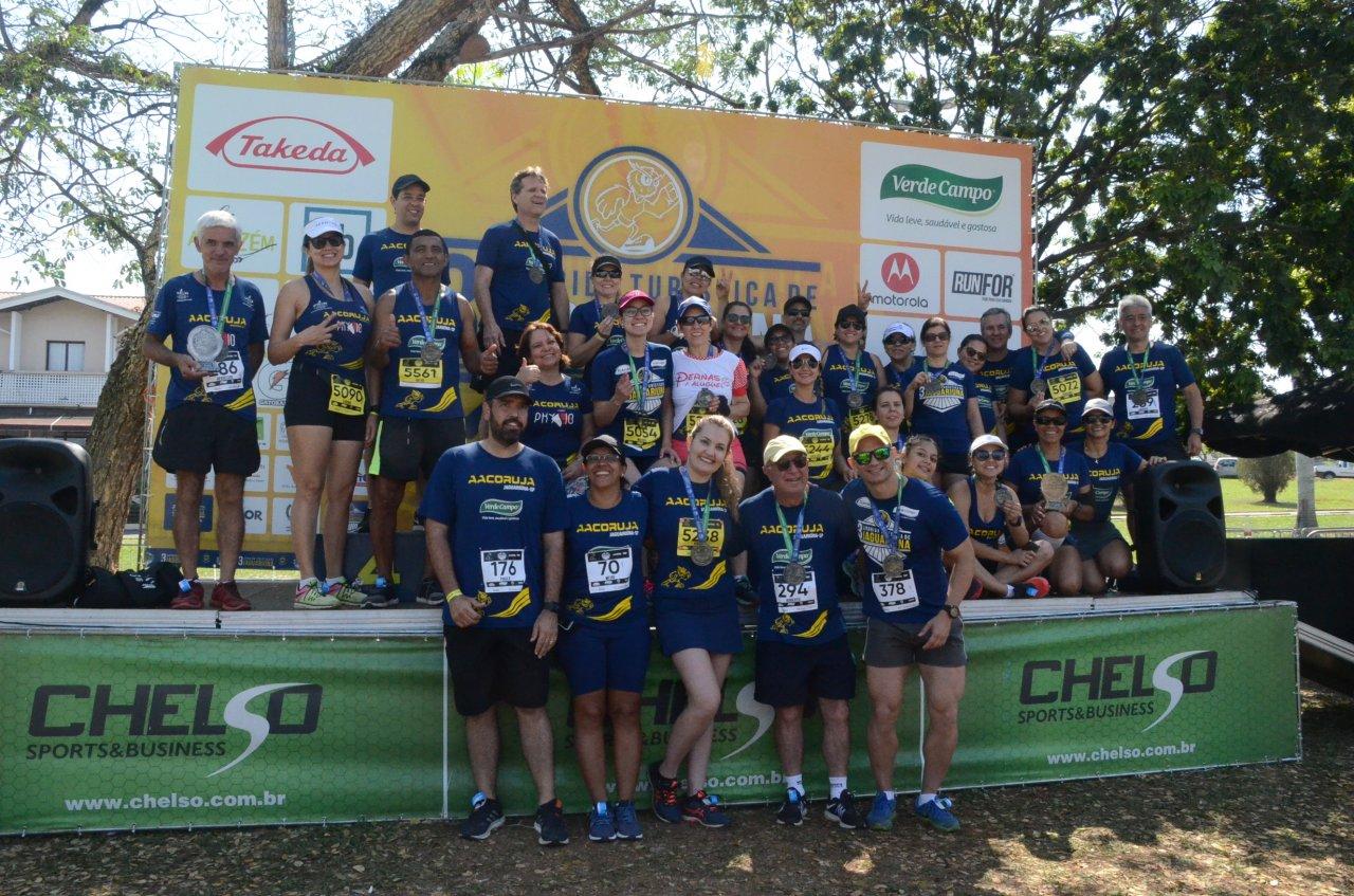 Equipe AACORUJA idealizadora da Corrida Turística de Jaguariúna