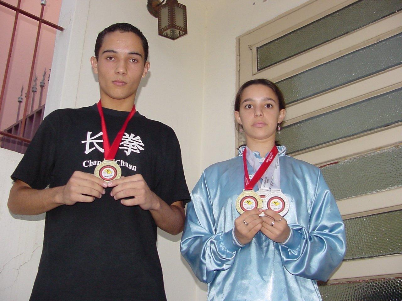 Marco e Ana eram destaques no Kung Fu em 2003