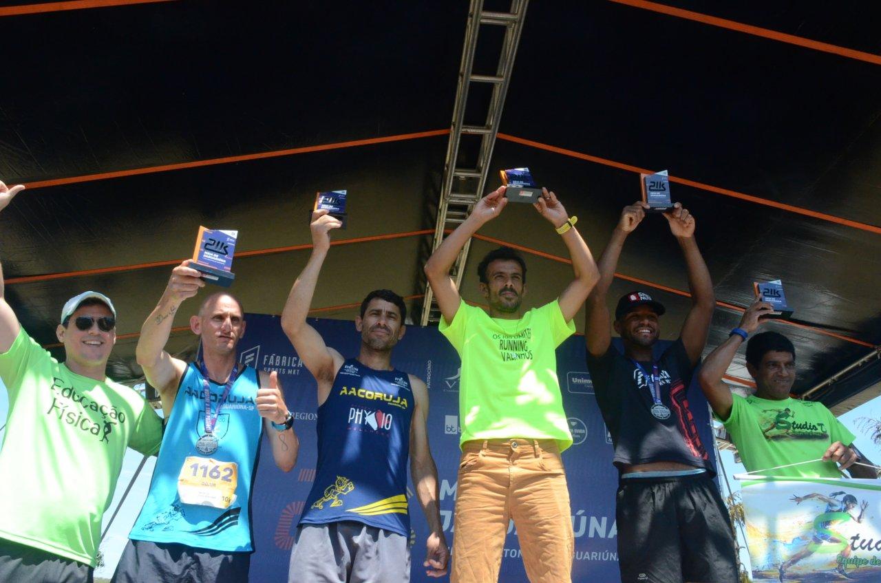 Nos 10k masculino, dois jaguariunenses no pódio: Sebastião em 3º e Odair na 5ª colocação