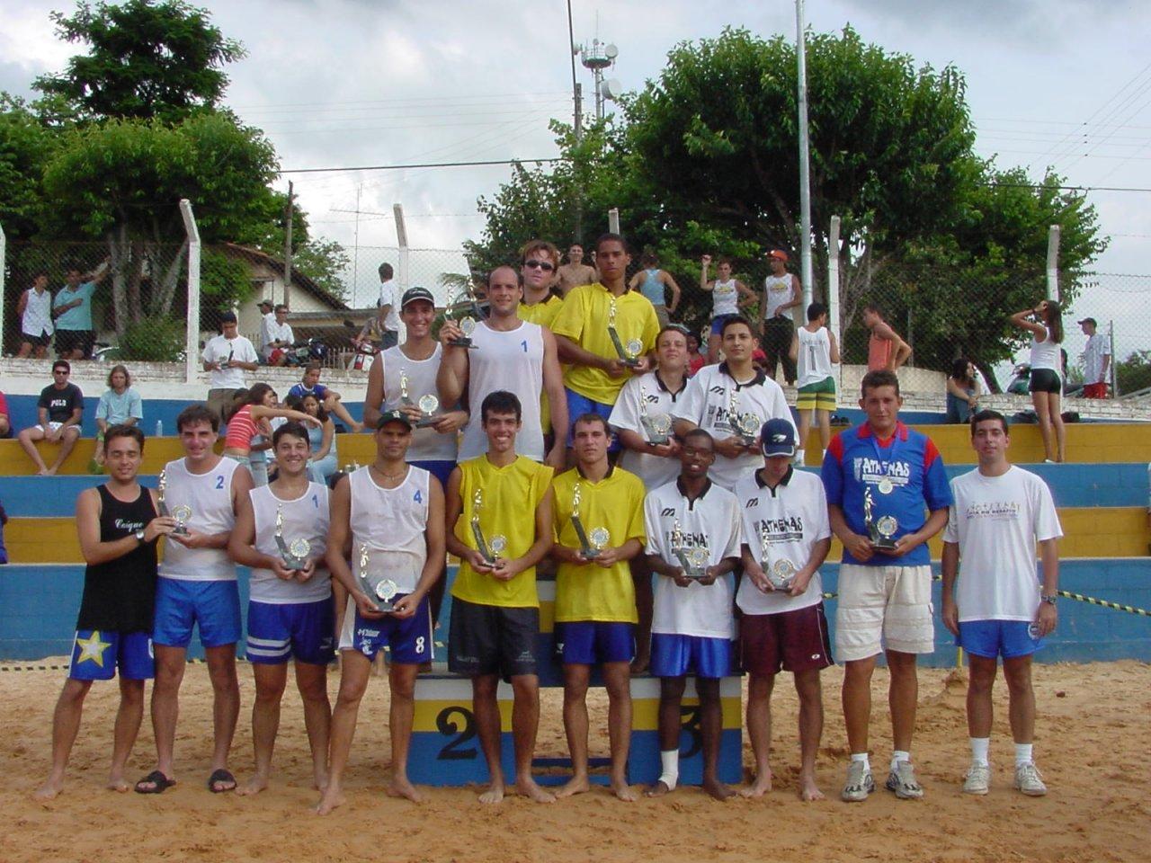 Quarteto vencedor do torneio com os demais classificados em 2º, 3º e 4º colocados
