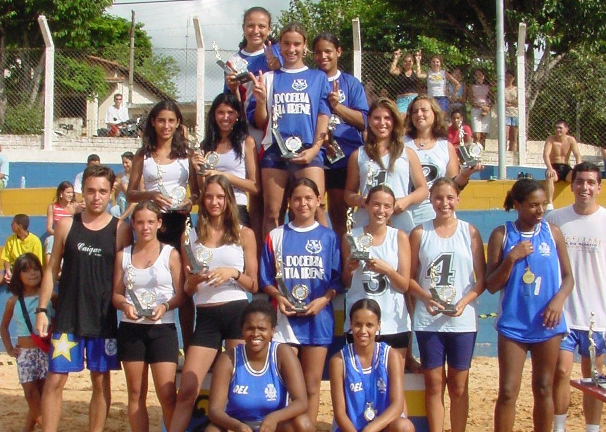 Campeãs do torneio e as atletas classificadas em 2º, 3º e 4º