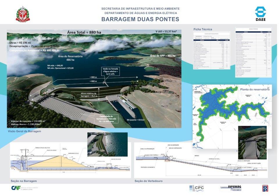 Projeto da barragem aprovado pela Cetesb