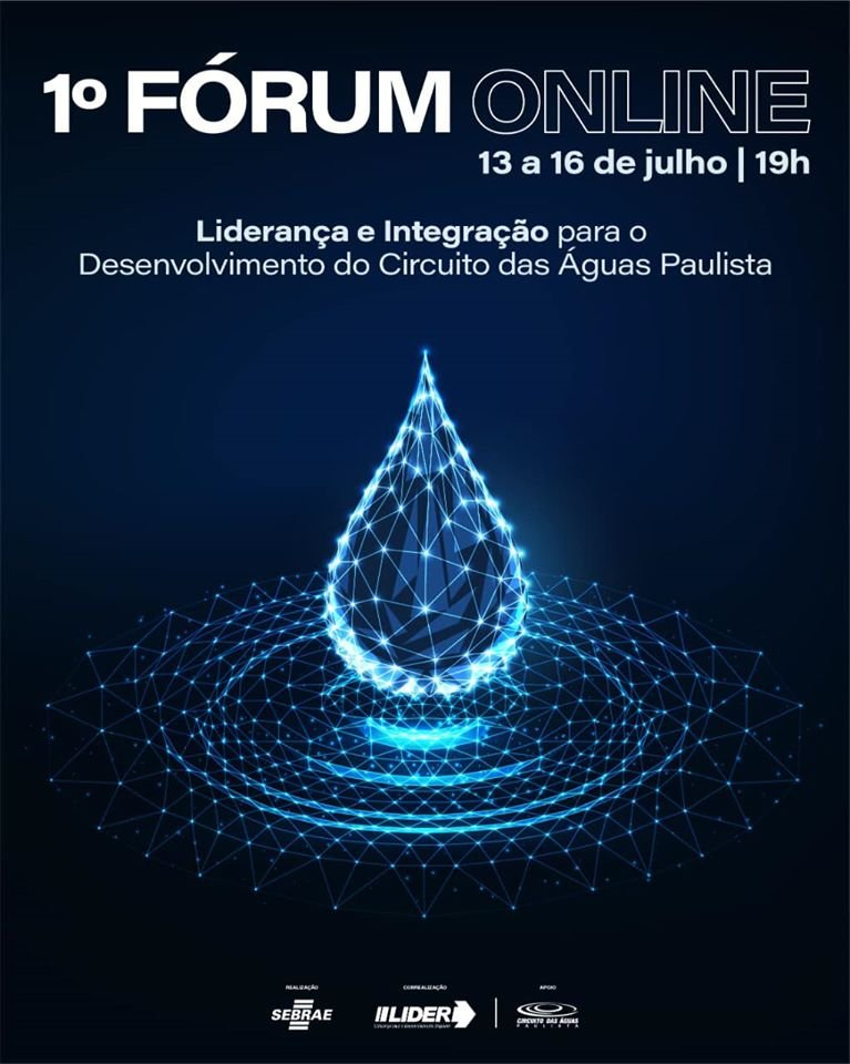 Cartaz de divulgação do fórum