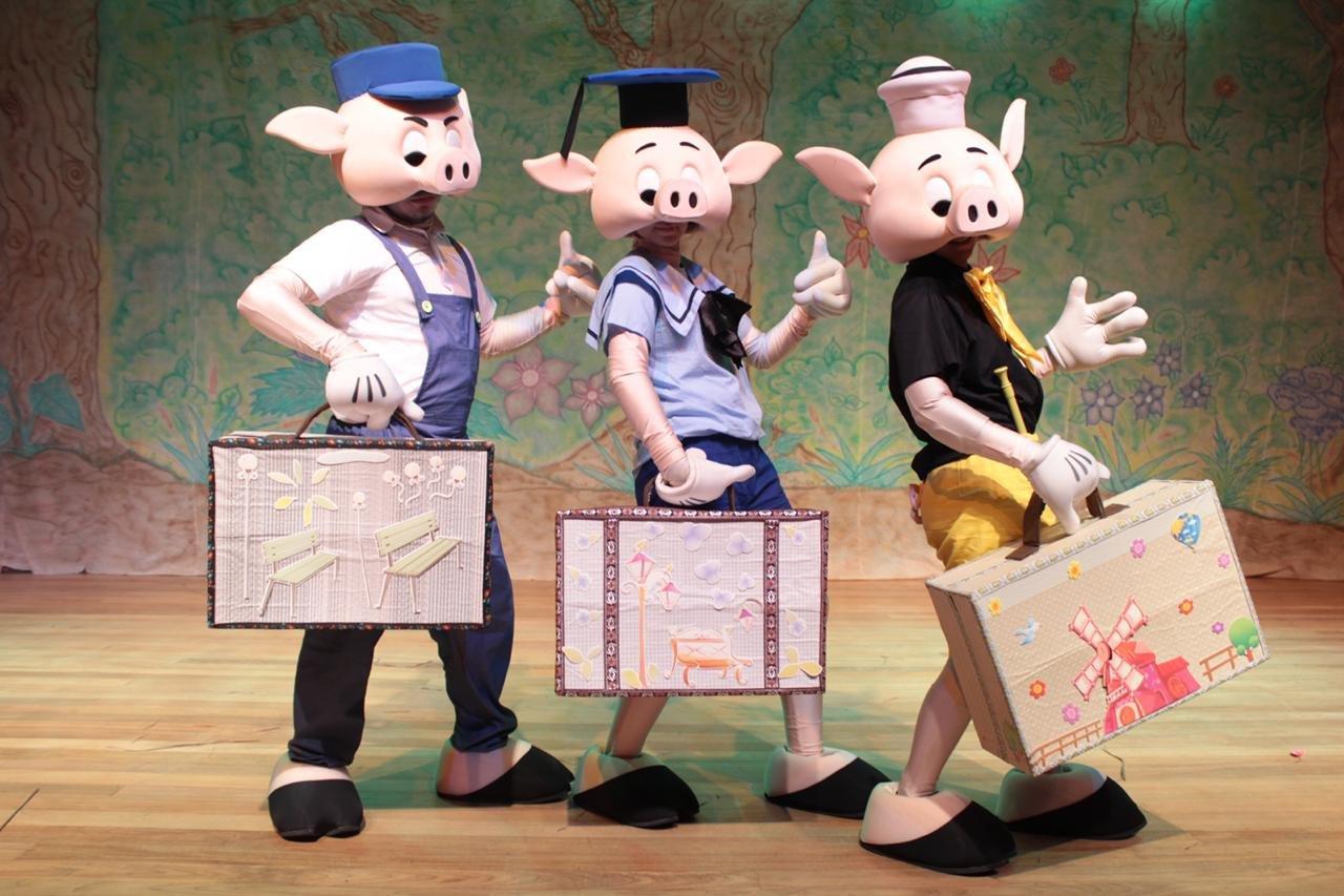 Encenação da peça Os Três Porquinhos será transmitida pela TV Artes no dia 12 de outubro