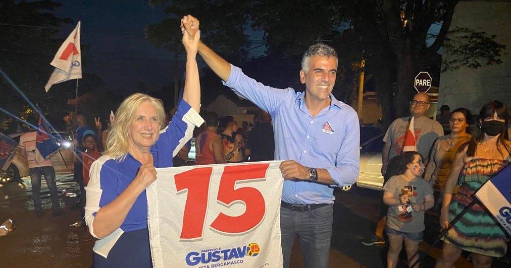 Rita, vice e Gustavo, prefeito venceram nas urnas e seguem na prefeitura por mais quatro anos