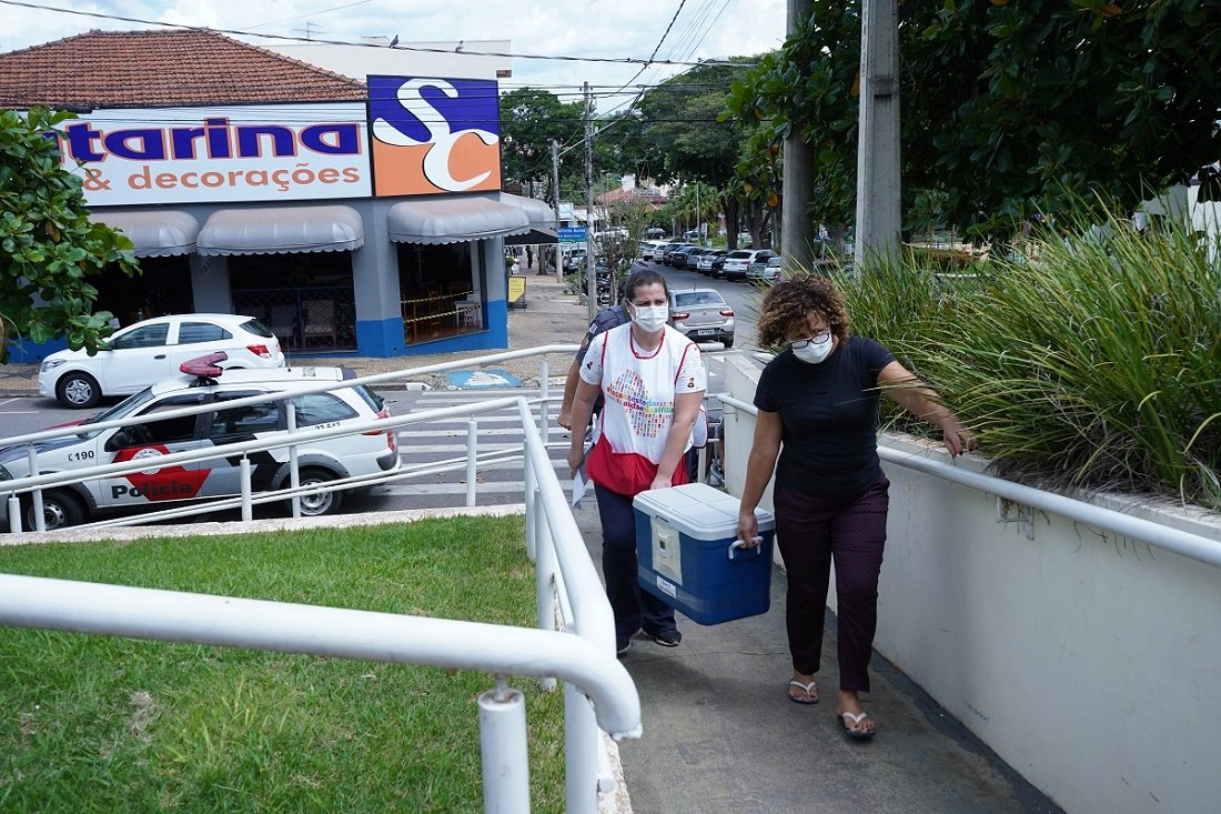 Jaguariúna recebe 450 doses da vacina (Foto Samuel Oliveira)