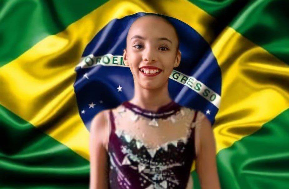 Sophia conseguiu duas medalhas de ouro no Pré-Juvenil Nível 1