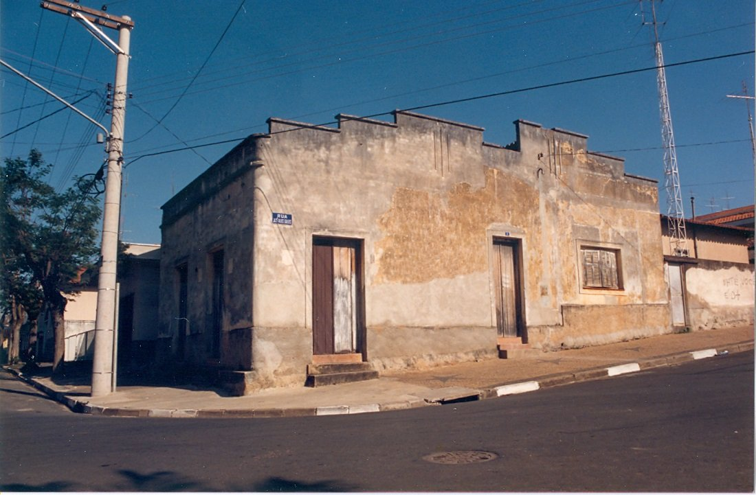Bar do Felício localizado na esquina das ruas Alfredo Engler e José Alves Guedes era bastante movimentado (Acervo: Casa da Memória Padre Gomes)