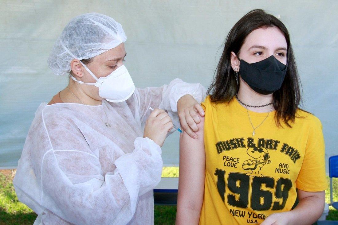 Vacinação contra Covid é retomada nesta semana e promete movimentar novamente o parque Santa Maria (Foto Ivair Oliveira)