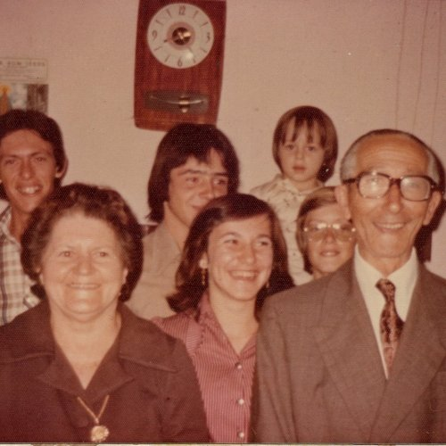 Avós e primos de Fernando Nascimento, filho do Arlindo da Caixa (Acervo pessoal)